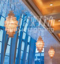 酒店灯饰/灯带/天花灯/欧式铜灯/酒店灯饰/抱箍灯/蜡烛水晶灯