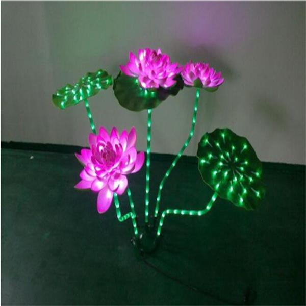 LED荷花装饰/圣诞灯/灯光节/路灯造型灯/节日灯/led灯串