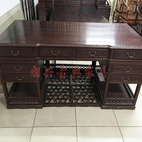 老挝酸枝洋花书抬/新会红木家具厂/红木古典家具厂/古典红木家具