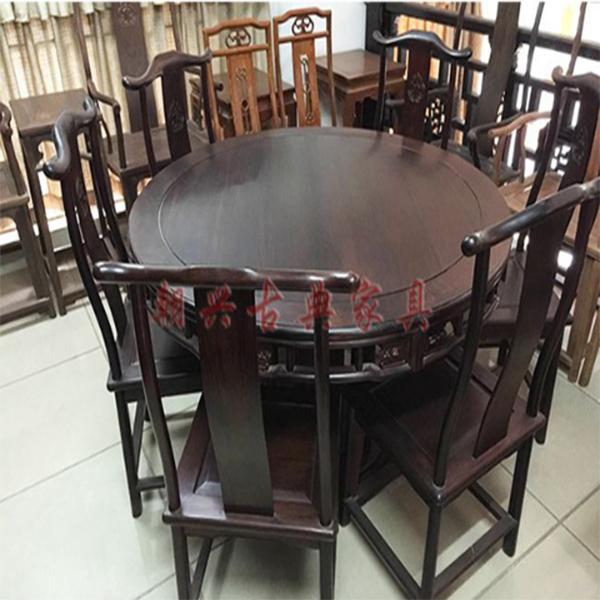 圆餐台/新会红木家具厂/红木古典家具厂/古典红木家具