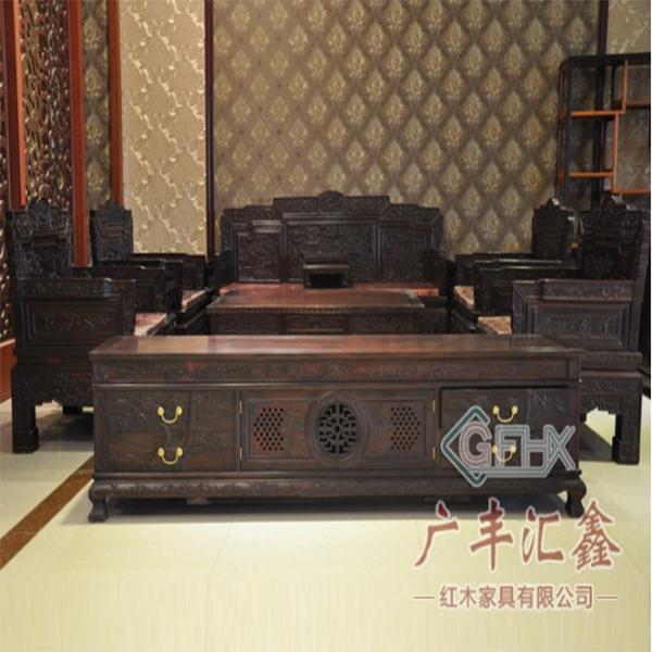 新会红木家具/刺猬紫檀家具/黑酸枝家具/碳化家具厂/红木古典家具厂