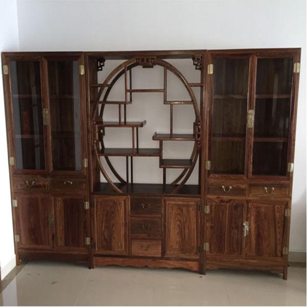 明式书柜配1米38博古柜/古典红木家具厂家