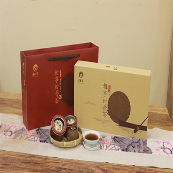 柑普茶礼盒/新会柑普茶/小青柑加工/新会陈皮茶/柑普茶品牌/柑普茶制作