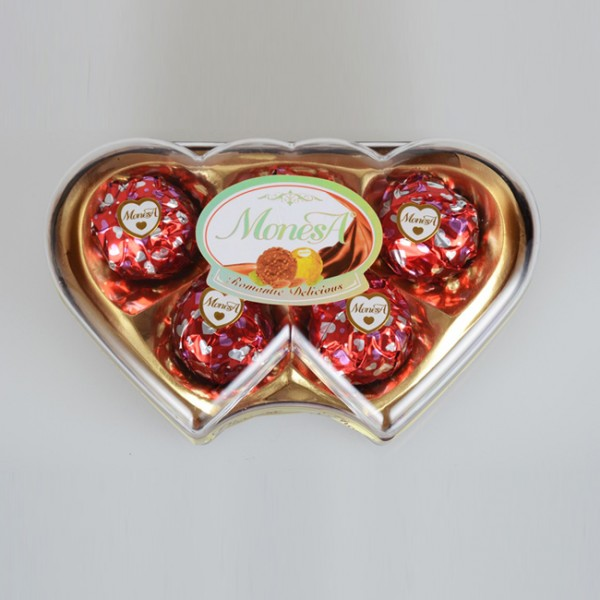 5粒双心型巧克力生产