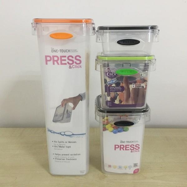 PL-L390 方形保鮮罐(4件套)_保鲜盒厂家_保鮮罐价格_塑料保鮮罐厂家_江门保鮮罐