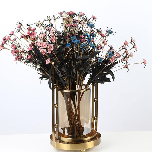 欧式玻璃烛台摆件_创意花瓶_现代软工艺品摆件