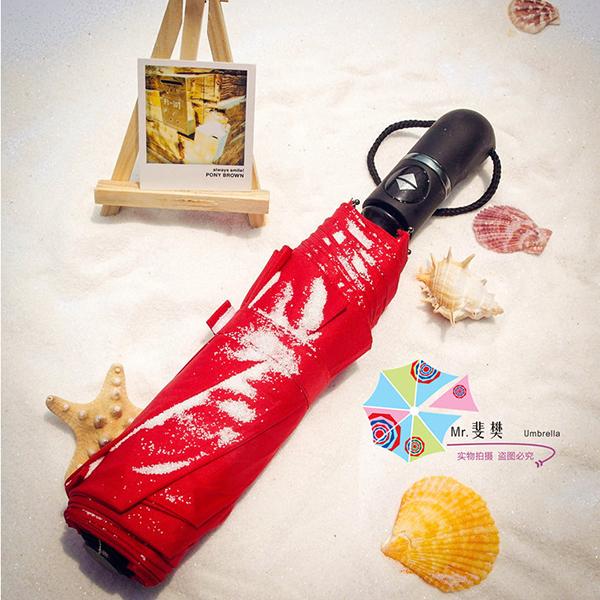 紫外线直杆伞_定制晴雨伞_海豚弯头广告伞