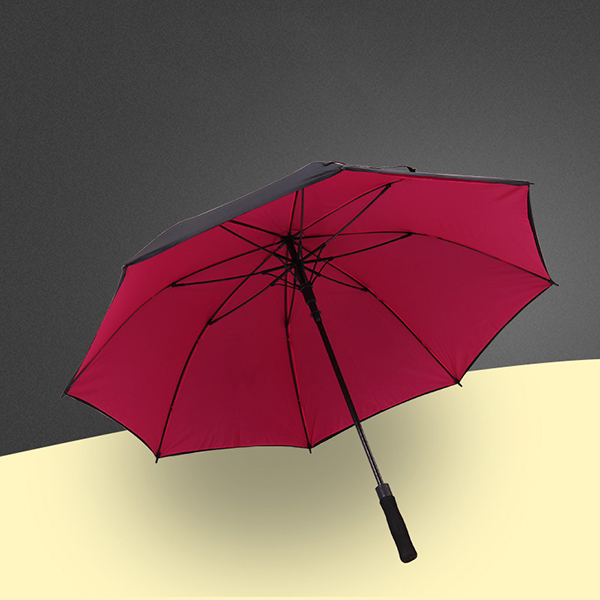 高尔夫雨伞_27寸双层布雨伞定制logo直杆广告伞
