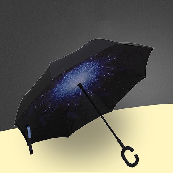 晴雨伞_反向汽车伞_热转印广告伞