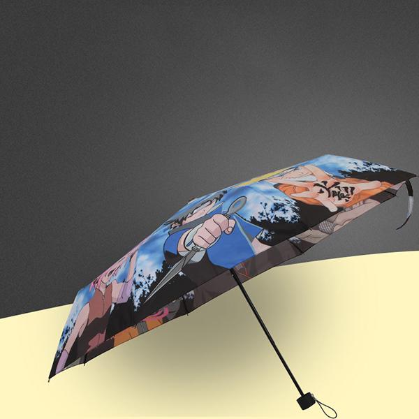 创意雨伞热转印伞_21寸印字三折雨伞定制logo_广告伞