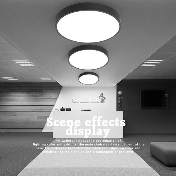 现代简约LED吸顶灯圆形铁艺卧室灯客厅灯,吸顶灯