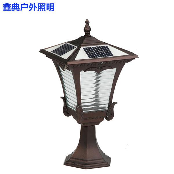 太阳能柱头灯户外农村围墙灯门柱灯