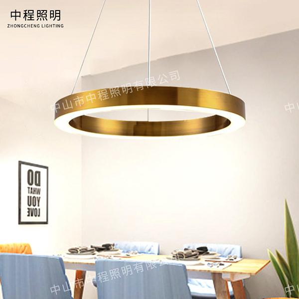 后现代吊灯家用客厅吊灯具创意圆环形吊灯,吊灯厂家