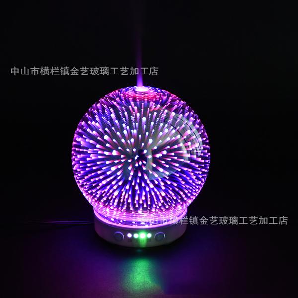 创意七彩灯玻璃球罩