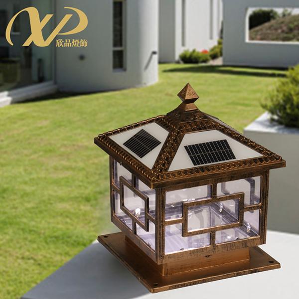 太阳能柱头灯,欧式庭院灯