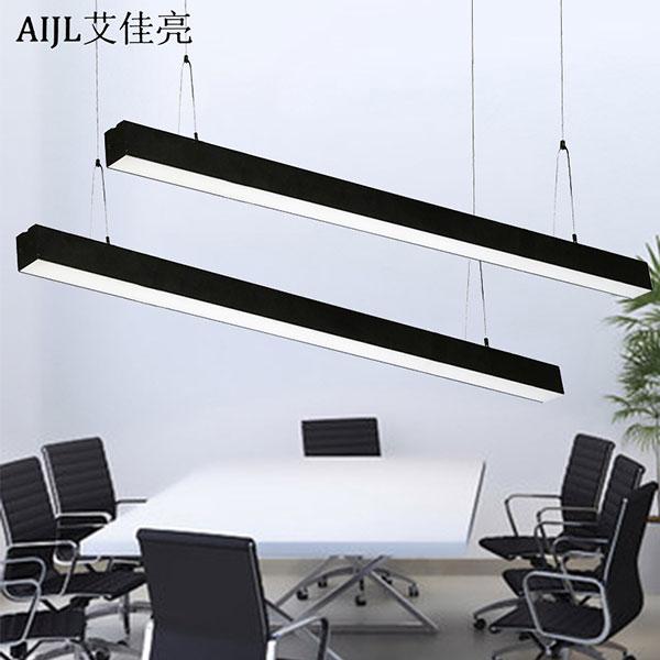 工程吊线灯个性长条方通导轨灯,日光灯管外壳
