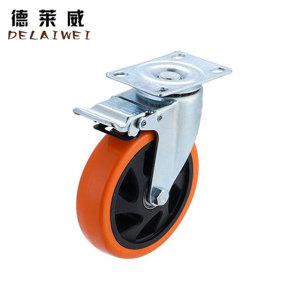 中型双轴动轮万向脚轮 平板转向轮,中山脚轮