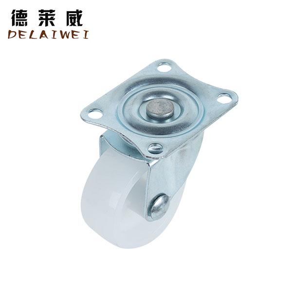 1.5寸白PP脚轮医疗物流设备工具柜脚轮,中山脚轮