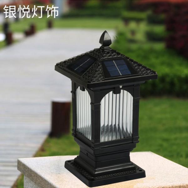太阳能户外柱头灯,欧式柱头灯,庭院墙头灯