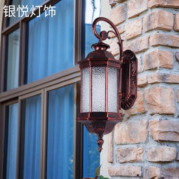 欧式复古壁灯欧式庭院壁灯LED酒店景观花瓣灯