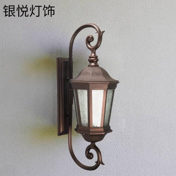 led异形双头八角铝材壁灯玻璃别墅户外酒店墙壁灯