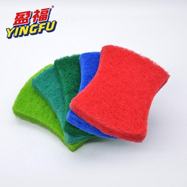 五片装加厚含沙百洁布 厨房清洁抹碗刷锅巾