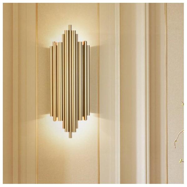 新中式壁灯,室简约床头土豪金壁灯