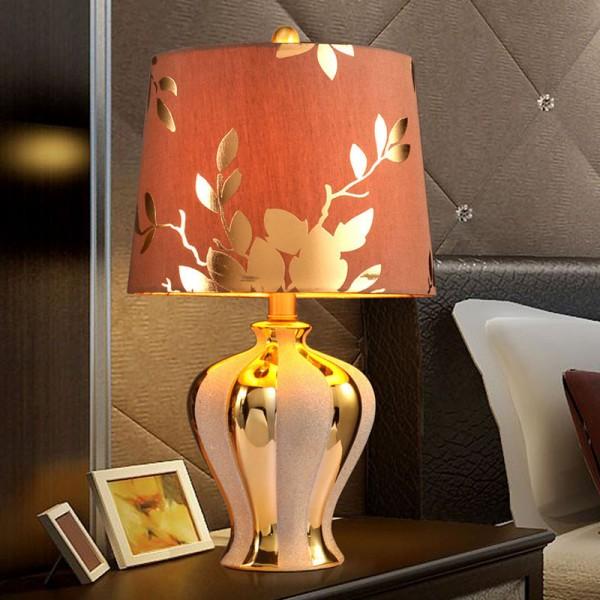 简约欧式陶瓷台灯卧室床头灯,欧式吊灯