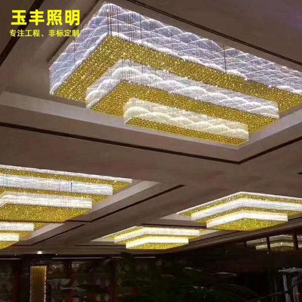 定制酒店灯售楼部沙盘灯酒店工程水晶灯