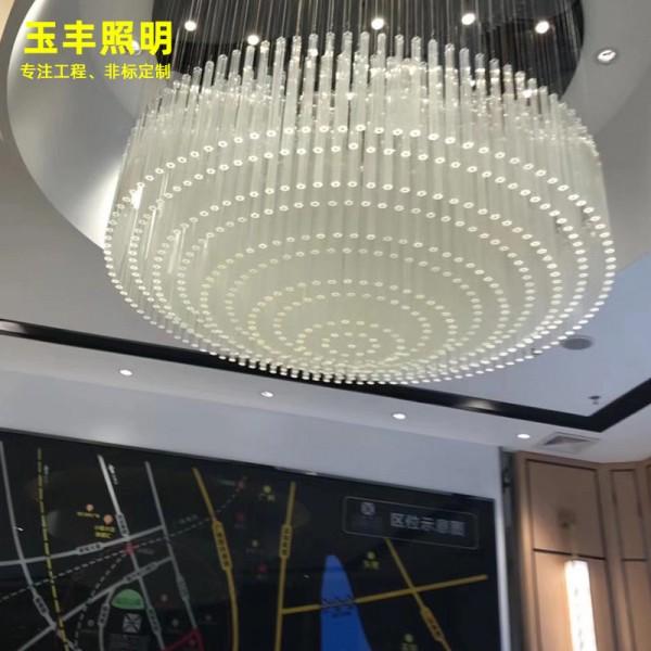 异形大型售楼部玻璃水晶灯