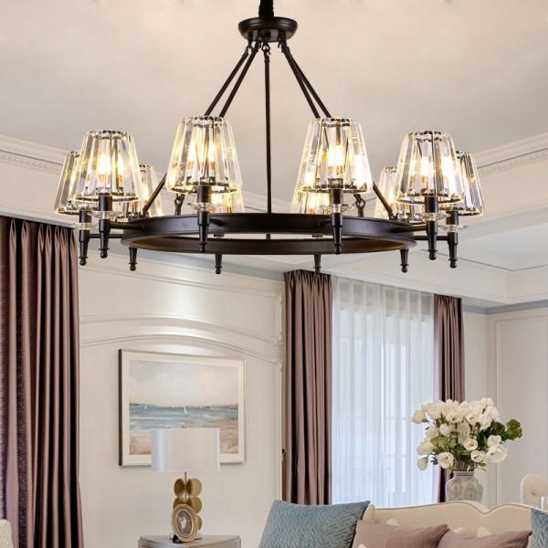 美式水晶吊灯创意卧室水晶吊灯