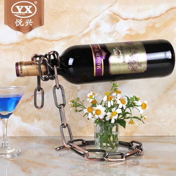 铁链酒架 创意欧式酒架 艺术酒瓶架