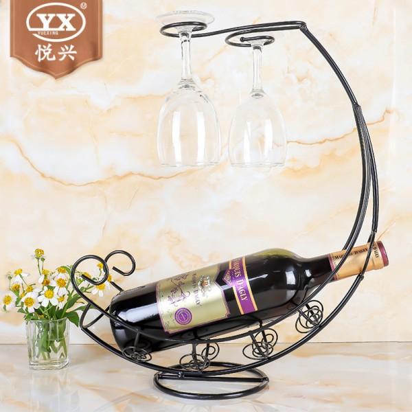 铁艺红酒架 欧式海盗船红酒杯架,不锈钢红酒架