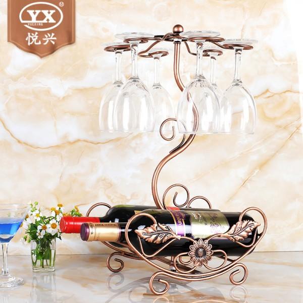 新款挂杯架创意欧式酒架,不锈钢红酒架