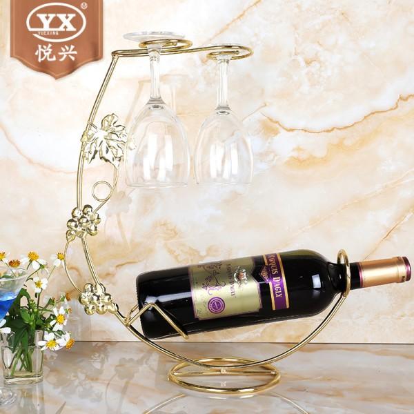 新款葡萄叶挂杯架 创意欧式酒架