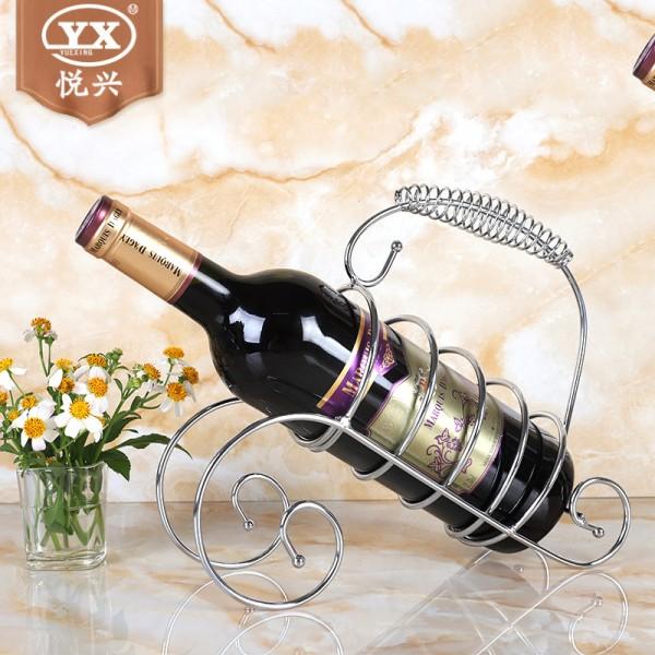 古琴酒架 铁艺欧式红酒杯架