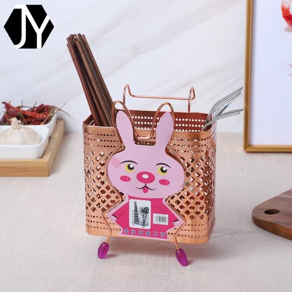 提毗方兔筷子筒沥水筷子厨房铁艺置物架餐具