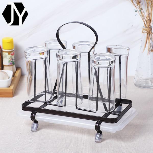 多功能厨房玻璃杯沥水架,铁线工艺品