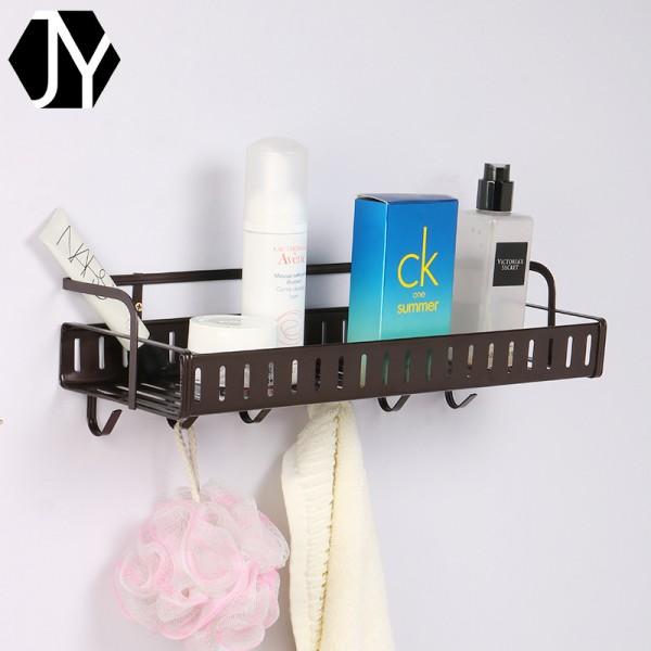 单层壁挂带钩多功能化妆品整理收纳置物架,铁线工艺品