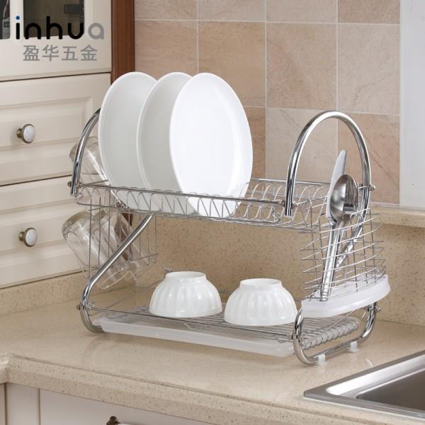 不锈钢置物架厨房用品不锈钢碗碟沥水架