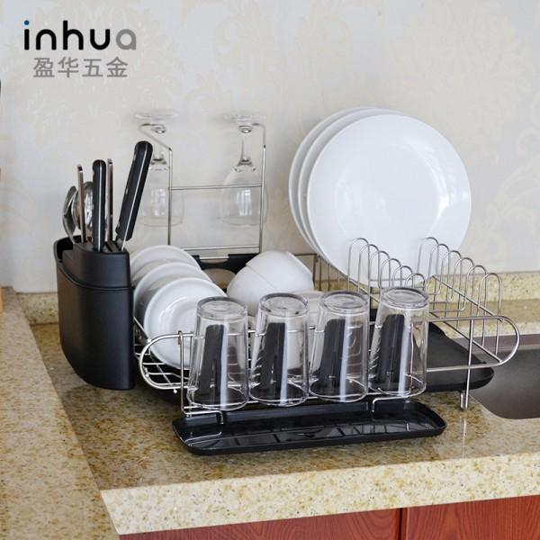 厨房单层置物杯置物碗碟红酒架沥水架