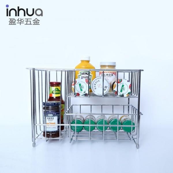 多用途收纳架厨房置物架镀铬杂物存放架