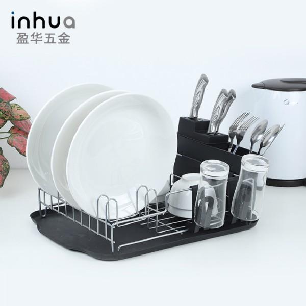 铁艺纳米喷涂沥水碗碟架厨房碗筷收纳篮