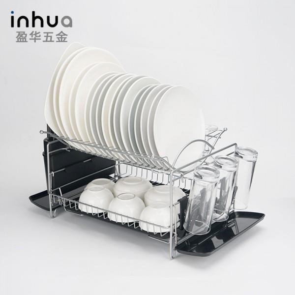 不锈钢碗碟架 铁艺厨房碗碟沥水置物架收纳架