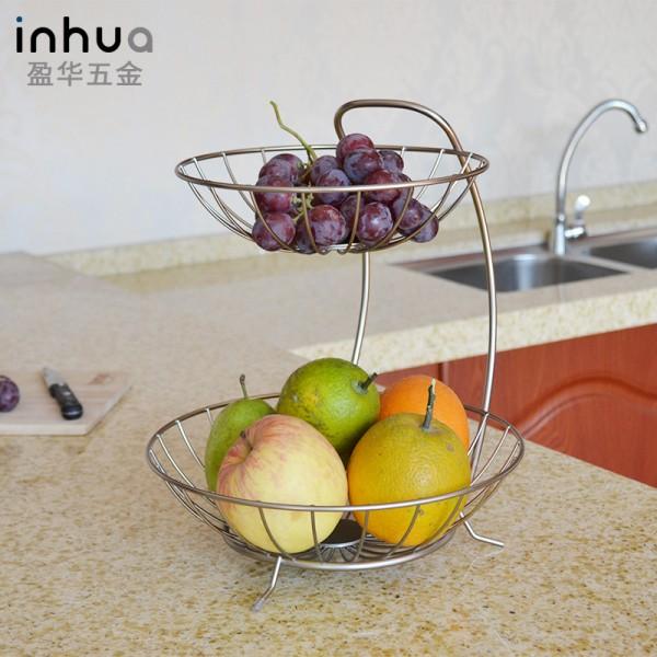 不锈钢双层水果沥水收纳篮