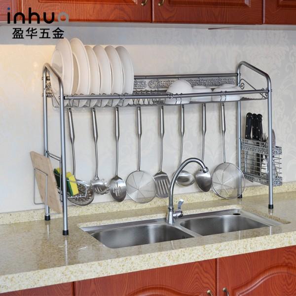 不锈钢水槽碗碟架沥水架大容量收纳水槽架
