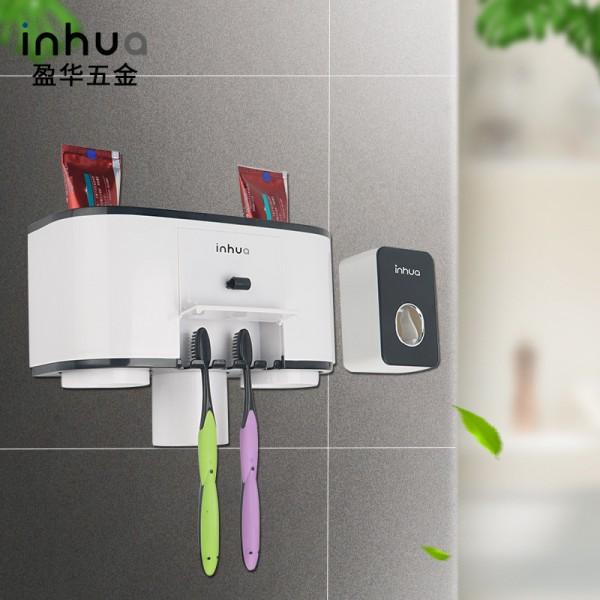 置物架吸壁式洗漱牙具套装牙膏自动挤压器