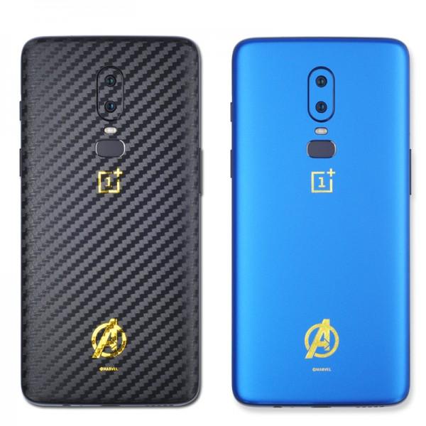 适用一加6T手机贴膜一加5T后膜伪装碳纤薄装