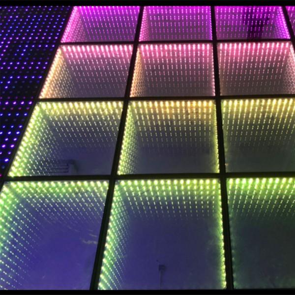 LED镜面地砖灯3D钢化玻璃