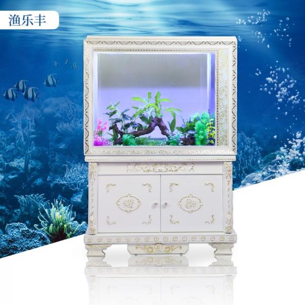 欧式鞋柜鱼缸玻璃鱼缸长方形屏风水缸